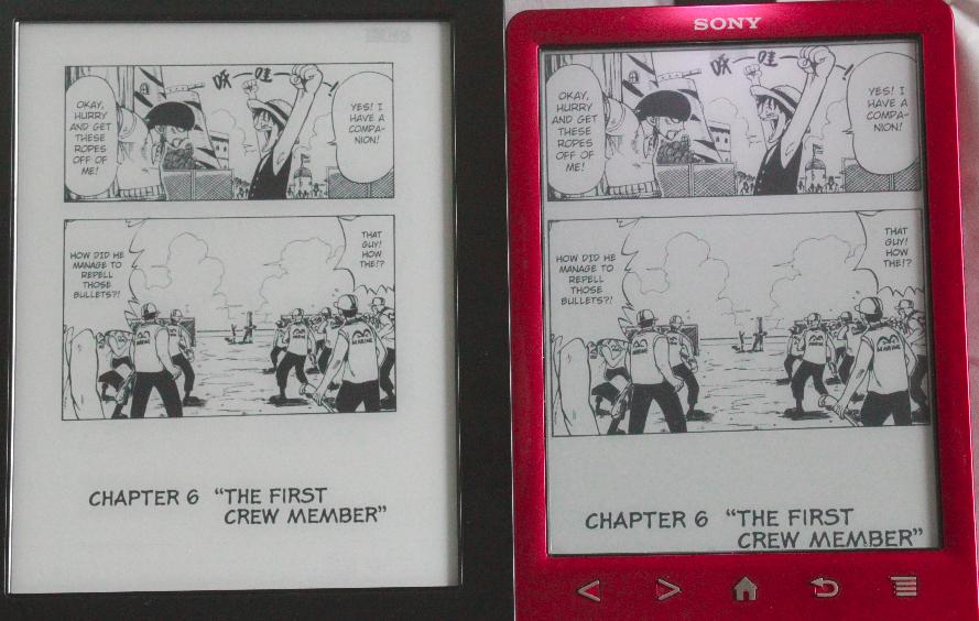 Kindle Vs Sony Reader: Sony PRS-T3 站長版 漫畫電子書閱讀 Vs 6.8吋電子書 6″ Vs 6.8″ Manga Reader